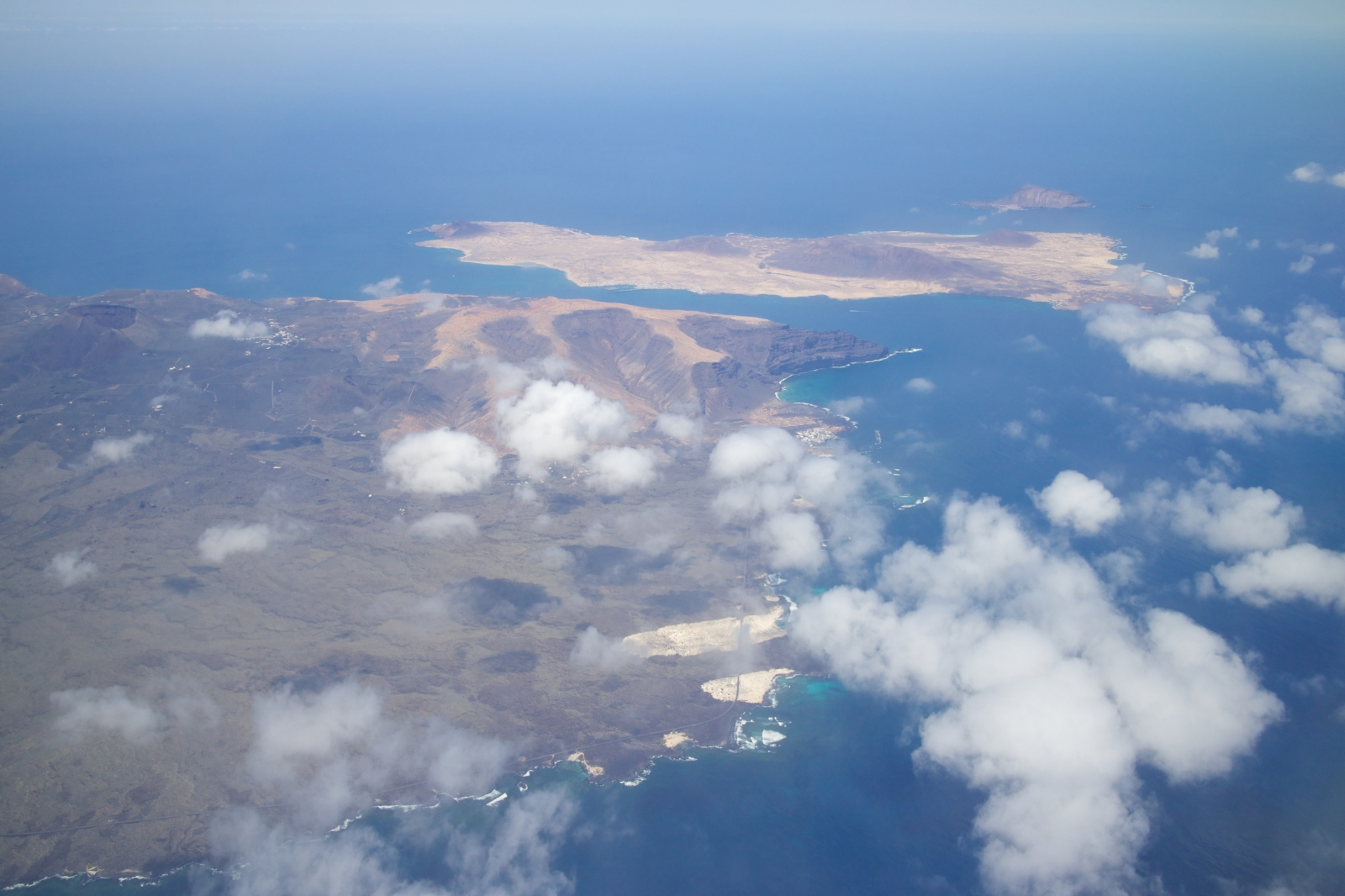 'View on Lanzarote island from an airplane' - Lanzarote